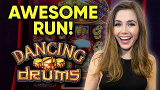 AMAZING WINNING SESSION! Endless Pot Closes BONUS! BIG HITS! Dancing Drums Slot Machine!