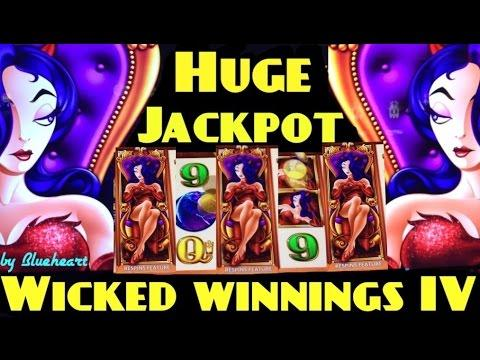 BIGGEST ON YOUTUBE: WICKED WINNINGS 4 slot machine AMAZING JACKPOT HANDPAY!