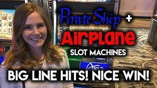 Pirate Ship and Airplane Slots! Big Hits! Nice Win! Loving the Expanding WILDS!