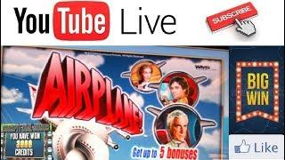 AIRPLANE High Limit BIG WINS LIVE PLAY + JACKPOT HAND PAYS! SLOT MACHINE BONUS