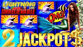 NEW SLOT ! •2 HANDPAY JACKPOTS• On High Limit Lightning Link Slot Machine - Up $62.50 A Spin! OMG-NG