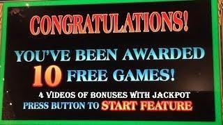High Limit Slot Machine Lotus Flower Jackpot Handpay Bonus Slots