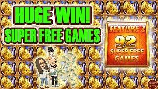 • I NAILED A HUGE WIN 92 SUPER FREE GAMES • WONDER 4 BOOST RHINO CHARGE