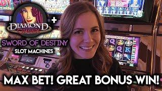• DIAMOND QUEEN! • Lovely Bonus WIN! • Sword of Destiny Max Bet X Zone Free Spins!!
