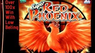 Super Red Phoenix Slot Machine Over 100X Win with Low Beting ! Live Slot