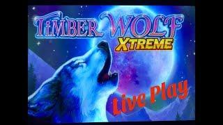 •NEW TIMBER WOLF !•TIMBER WOLF XTREME Slot (Aristocrat + VGM) $3.00 Bet Live Play•彡
