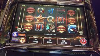 HUGE WIN Rhino Rumble 2 HIGH LIMIT Ainsworth Slot machine pokie Free spins bonus $10 bet