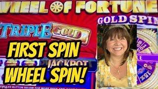 FIRST SPIN BONUS- WHEEL OF FORTUNE TRIPLE GOLD