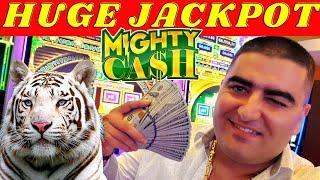 Mighty Cash Slot Machine HUGE HANDPAY JACKPOT - $50 BET | High Limit Slot Machine JACKPOT