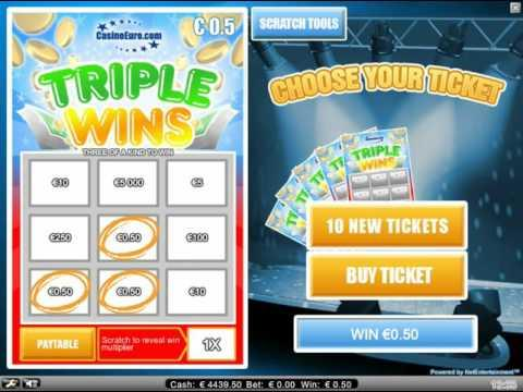 Triple Wins - scratch tickets