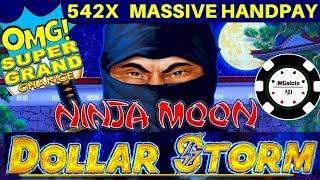•️SUPER GRAND CHANCE •️DOLLAR STORM NINJA MOON •️OVER 540X HUGE HANDPAY NEW STYLE LIGHTNING LINK •️
