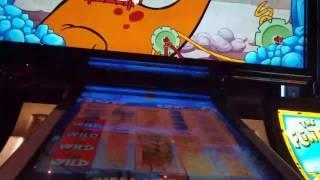 Flintstones slot machine! YABBA DABBA DOO bonuses at max bet! Big wins! 3 bonuses!