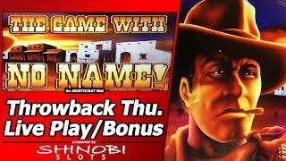 The Game with No Name Slot - TBT Live Play, 2 Free Spins Bonuses