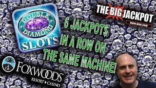 The Raja Wins 6 Jackpots In A ROW Double Diamond @ Foxwoods Casino!