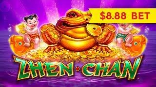 Zhen Chan Slot - GOOD FORTUNE VISITS - $8.88 Max Bet!