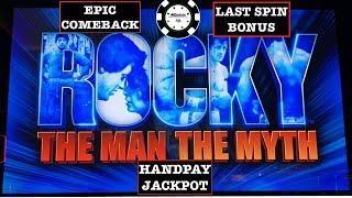 •️ EPIC COMEBACK HANDPAY ON ROCKY THE MAN THE MYTH SLOT MACHINE •️THE COSMOPOLITAN CASINO LAS VEGAS