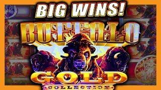 BIG BONUS WINS! • BUFFALO GOLD SLOT MACHINE • LIVE PLAY & BONUS