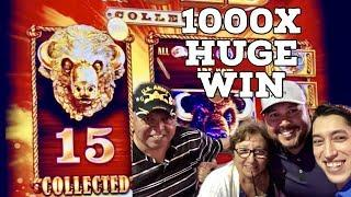 15 Golden Buffalo Collected HUGE 1000X Win on Family Spin Night  & BIG Buffalo Stampede Bonus