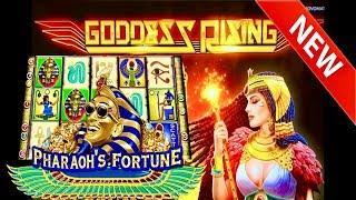 NEW SLOT! GODDESS RISING•PHARAOH'S FORTUNE MAX BET• BONUSES• BC & KIKI SLOTS IN DA HOUSE!