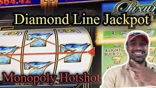LUXURY DIAMOND LINE JACKPOT WON ! MONOPOLY HOTSHOT SLOT MAX BET LIVE PLAY! RIVER SPIRIT CAINO TULSA!