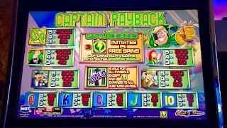 Captain Payback slot machine- 5 bonuses!