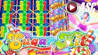 •NEW SLOT!• SUGAR HIT JACKPOTS (Reel Sweet Stacks) & WORLD OF WONKA | Slot Machine Bonus