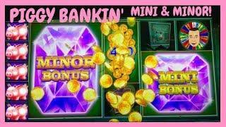 •I WON a MINI & MINOR Jackpot Piggy Bankin Slot Machine•
