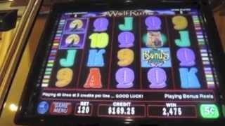 Wolf Run Slot Machine Bonus- 5 Cent Denomination