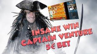 BIG WIN!!!! Captain Venture - Casino - Bonus round (Casino Slots) From Live Stream