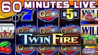 • 60 MINUTES LIVE • TWIN FIRE • WHAT HAPPENS WHEN YOU MIX QUICK HIT & HOT SHOTS? • THE SLOT MUSEUM