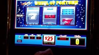 High Limit Slot Machine Game Play - $50 a Pull - $25 Wheel of Fortune