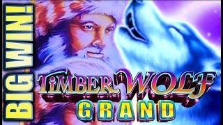 •SURPRISE BIG WIN!• IT'S RAINING WOLVES, MOONS, & MOUNTAIN MEN! TIMBER WOLF GRAND Slot Machine
