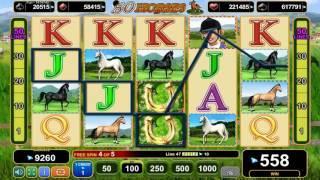 50 Horses slot - 1,280 win!