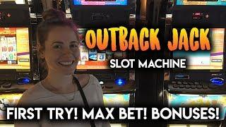 First Try on Outback Jack Slot Machine! MAX Bet BONUS!