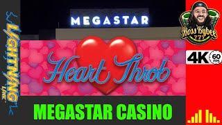 My 1st Trip to NEW MegaStar Casino! Lightning Link Heart Throb MAJOR Chase