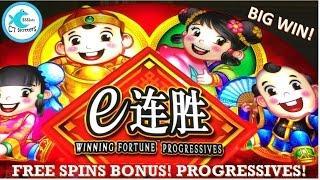 Winning Fortune Progressives Slot Machine - Bonus, Progressives, Big Win!