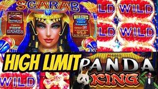 SCARAB-OOPS BET $18.75 & HIGH LIMIT PANDA KING BONUS