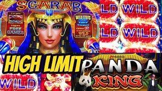 SCARAB-OOPS BET $18.75 & HIGH LIMIT PANDA KING BONUS