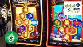 #G2E2017 SG - Jackpot Party Ultimate, Zeus Unleashed, HexoGems slot machines