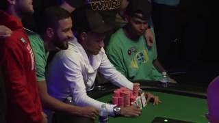 2016 WSOP - Neymar Jr. plays poker at the World Series of Poker in Las Vegas