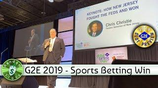 #G2E2019 Chris Christie: Sports Betting, How New Jersy Fought the Feds & Won