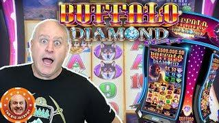 Big Buffalo Diamond BONUS Win! •Big Penny Payout!