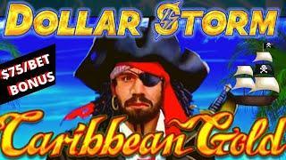 ★ Slots ★️HIGH LIMIT Dollar Storm Caribbean Gold $75 SPIN BONUS ★ Slots ★️Slot Machine Lightning Lin