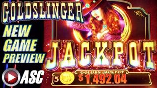•NEW SLOT!• GOLDSLINGER (Bally/SG) | SNEAK PEEK PREVIEW Demo Slot Machine Bonus