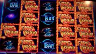 Fireball II After Burn Slot Machine Bonus - 32 Free Games + Credit Wheel Spins - Nice Win