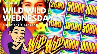 ⋆ Slots ⋆WILD WILD WEDNESDAY!⋆ Slots ⋆ QUEST FOR A JACKPOT [EP 30] ⋆ Slots ⋆ WILD WILD PEARL Slot Machine (Aristocrat)