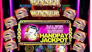 Dancing Drums Slot Machine •MAJOR HANDPAY JACKPOT• | Max Bet Double Jackpot Gems Slot Live Play