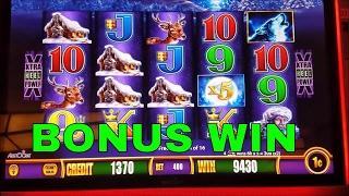 Timber Wolf Slot Machine Bonus Win $4 Bet  •Live Play•