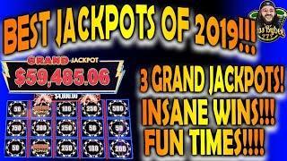 Best Slot Jackpots of 2019! Biggest Jackpots on YouTube! 4 Grand Jackpots!
