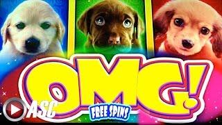 OMG! PUPPIES! | WMS - Slot Machine Bonus Win